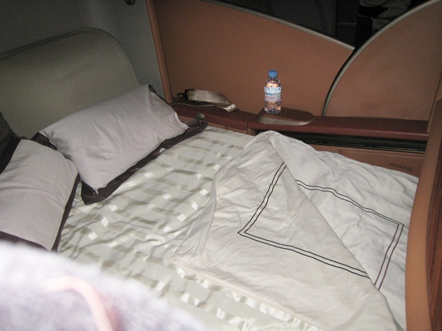 Singapore First Class Review - First Class Bed