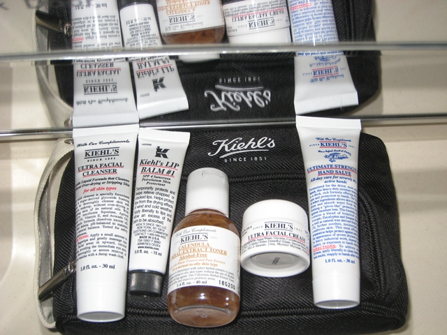 Singapore Airlines First Class Review - Kiehls Amenity Kit