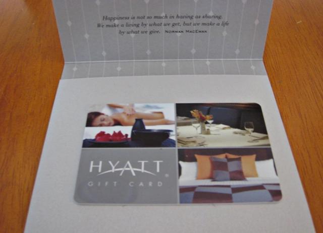 Hyatt Gift Cards vs. Hyatt Check Certificates