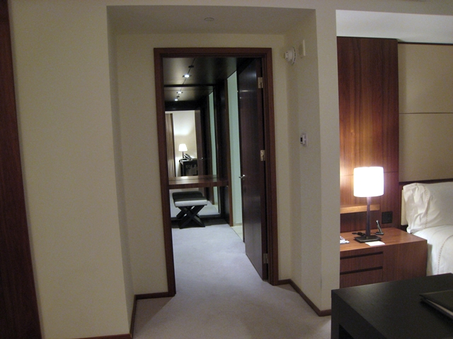 The Setai Fifth Avenue NYC Hotel Review - Entrance to Bathroom and Walk in Closet