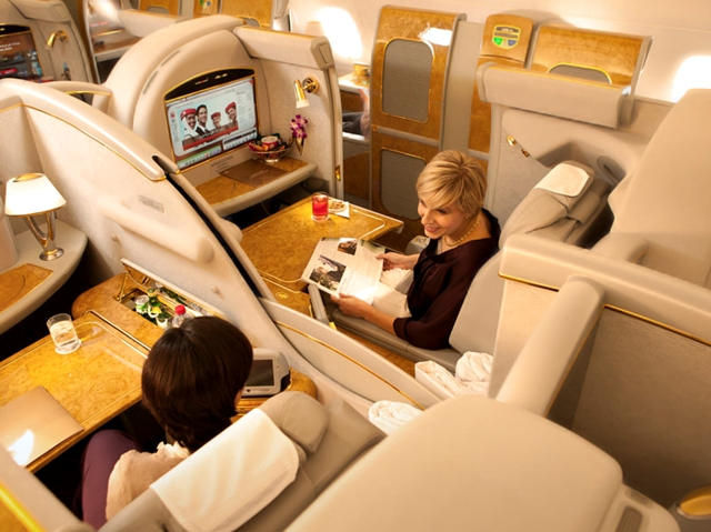 Best First Class Airline Seats for Couples: Emirates