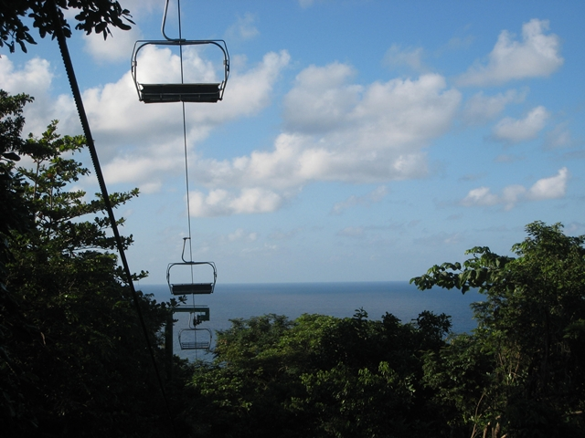 Mystic Mountain Bobsled and Zipline Review Jamaica - Sky Tram