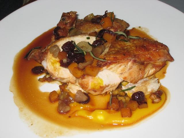 Riverpark NYC Restaurant Review - Roasted Chicken Chestnut Butternut Squash