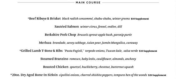 Riverpark NYC Restaurant Week Menu - Main Courses
