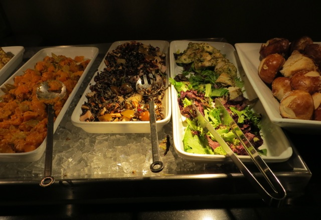 British Airways Galleries Lounge JFK - Pre-Flight Dining Salads