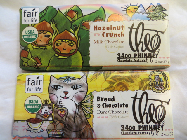 Theo Chocolate Factory Tour, Seattle - Bread and Chocolate and Hazelnut Crunch Fantasy Bars