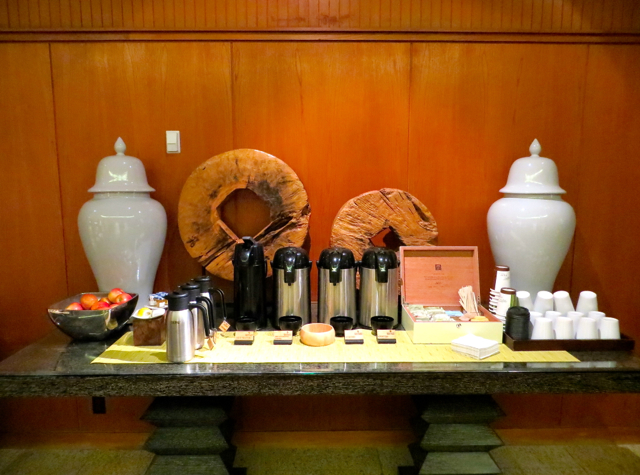 Four Seasons Vancouver Hotel Review - Complimentary Coffee and Tea in the Lobby