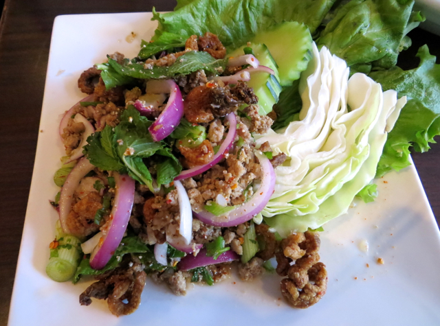 Zabb Elee NYC Restaurant Review - Best Isan Thai Food in Manhattan - Larb Ped