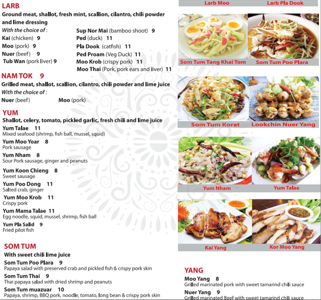 Zabb Elee Menu, NYC Restaurant Review