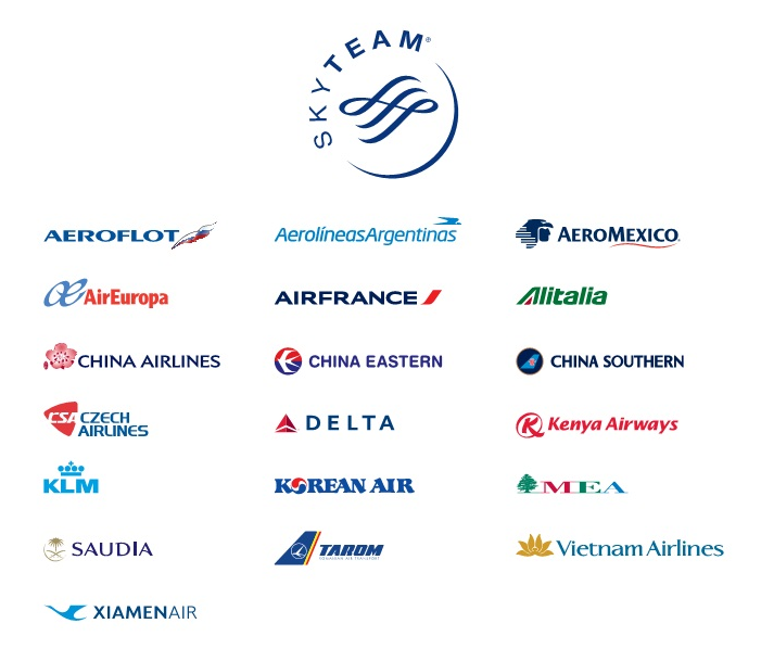 Airline Award Charts - SkyTeam Alliance Airlines
