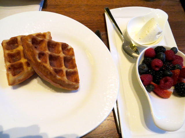 YEW Restaurant Review-Vancouver-Kids Eat Free-Waffles with Berries and Vanilla Cream