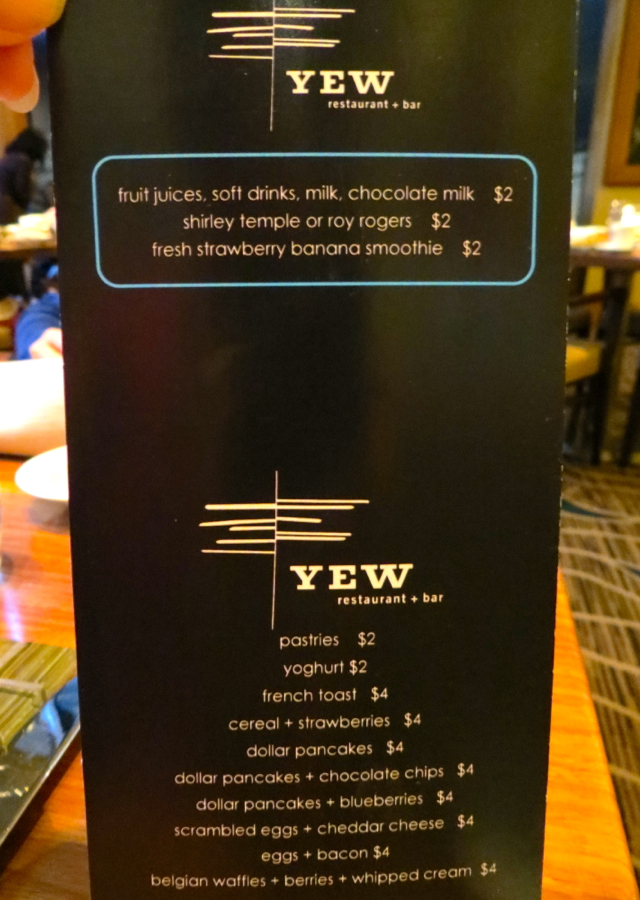 YEW Kids Menu-Breakfast