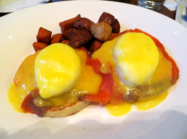 YEW Restaurant Review-Smoked Salmon Eggs Benedict