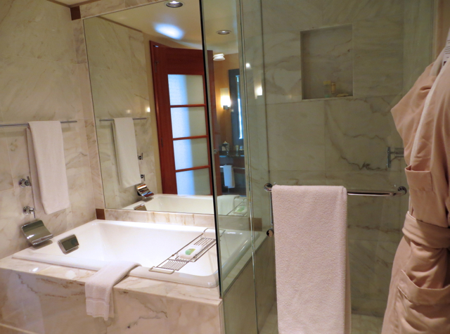 Review-Grand Hyatt Seattle-Separate Glass Enclosed Shower and Bathtub