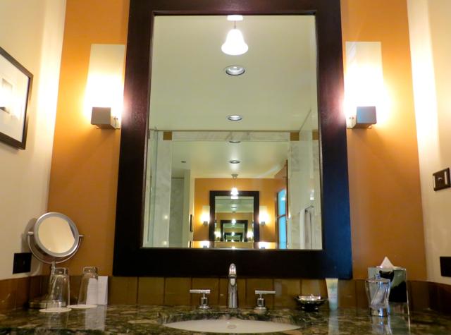 Review-Grand Hyatt Seattle-Corner Suite Bathroom Sink and Mirror