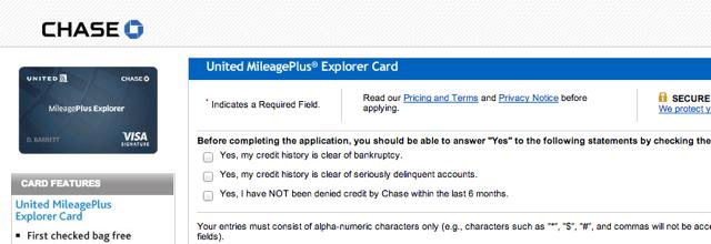 United MileagePlus Explorer 55K Offer