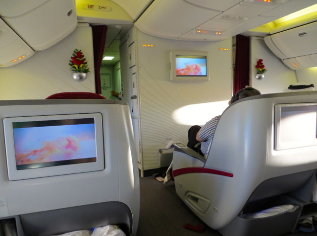 Review-Qatar Business Class NYC JFK to Doha - Cabin