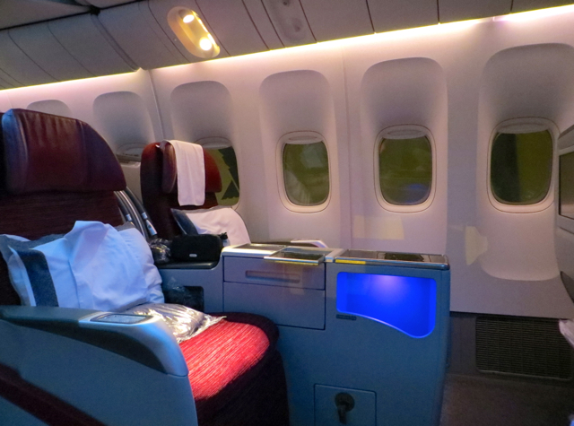 Review-Qatar Business Class NYC JFK to Doha - Seats