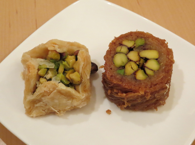 Review-Qatar Business Class Lounge in Doha - Pistachio Baklava