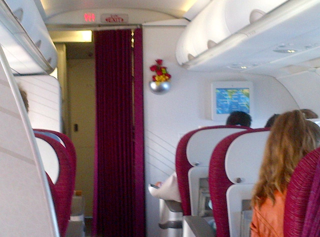 Qatar Business Class Review Doha to Maldives - Business Class Cabin