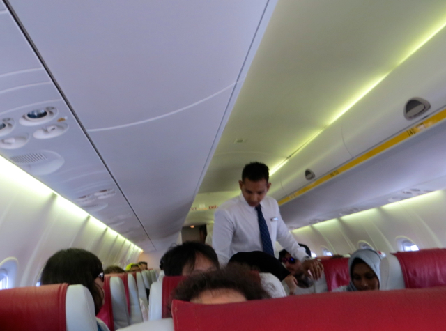 Interior of Maldivian Plane, Maldives