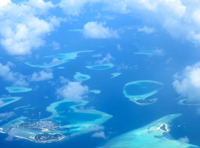Atolls Seen from Maldivian Flight, Maldives