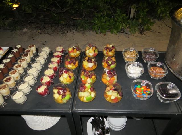Park Hyatt Maldives Island Grill Review - Beach Barbecue Dessert Buffet