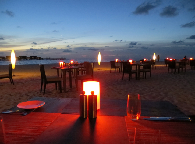 Park Hyatt Maldives Island Grill Review-Beach Barbecue Dining by Candlelight on the Beach