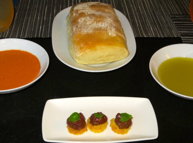 Park Hyatt Maldives Island Grill Review - Bread, Sauces and Amuse Bouche