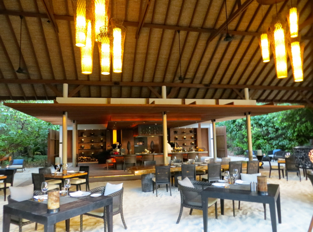 Park Hyatt Maldives Island Grill Review - Open Kitchen and Seating