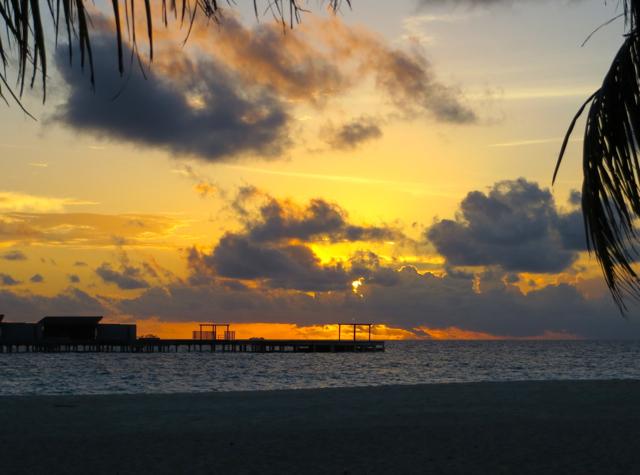 Park Hyatt Maldives Island Grill Review - Sunset