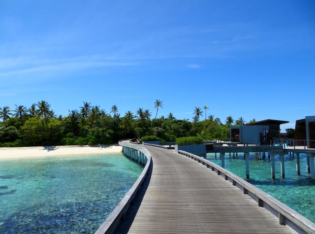 Park Hyatt Maldives Water Villa Review - Boardwalk to Hadahaa Island