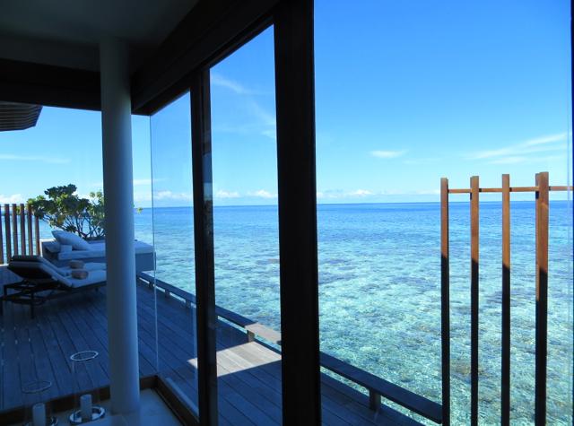 Park Hyatt Maldives Water Villa Review - View from Soaking Tub
