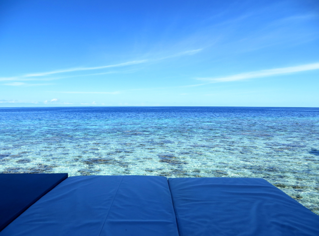 Park Hyatt Maldives Water Villa Review - View from Day Bed
