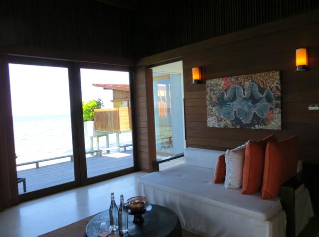 Park Hyatt Maldives Water Villa Review - Living Room Sitting Area