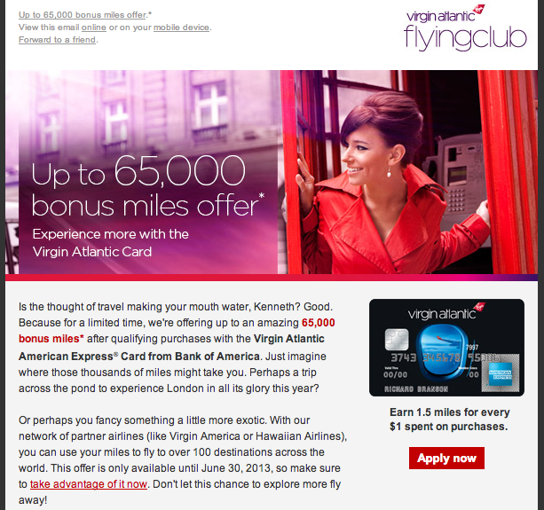 Virgin Atlantic 65K Offer Worth It?