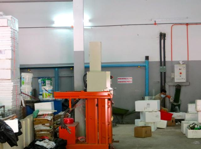 Park Hyatt Maldives Back of House Tour - Food Grinder and Incinerator Room