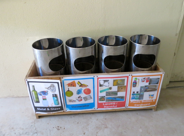 Park Hyatt Maldives Back of House Tour - Recycling Containers
