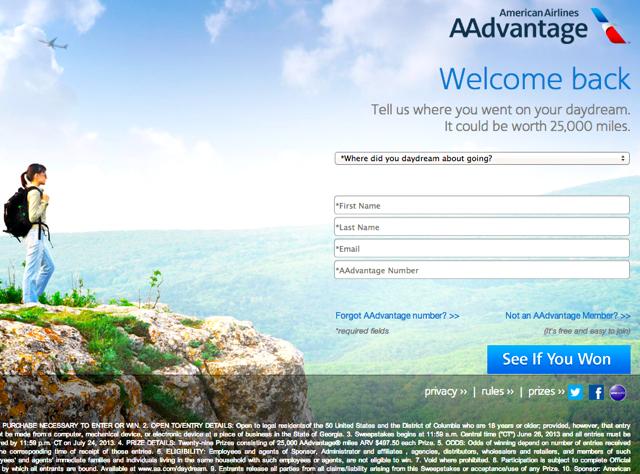 2500 American AAdvantage Miles Rebate for AAdvantage Awards