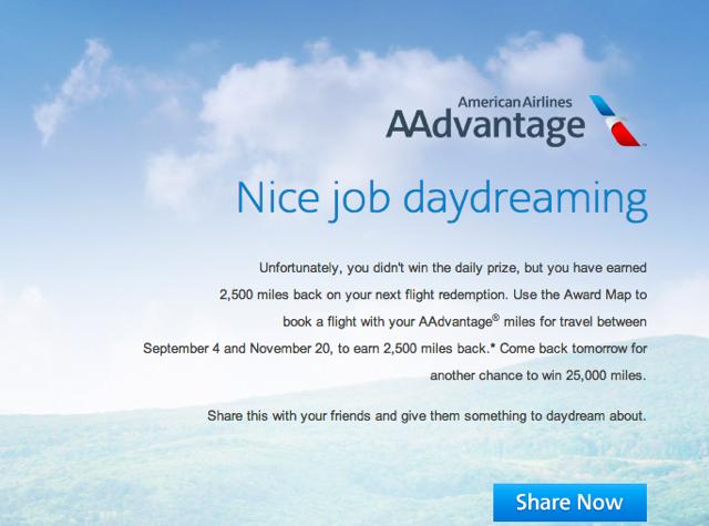 2500 AA Miles Rebate for American AAdvantage Award Travel