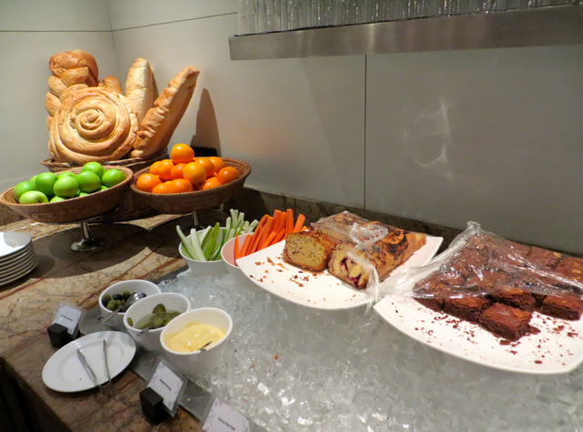 Plaza Premium Lounge Review, Male-Fruit, Cakes and Brownies