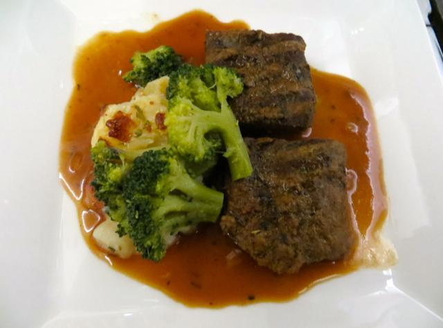 Etihad Business Class Review Male to Abu Dhabi - Dinner Menu - Beef Tenderloin