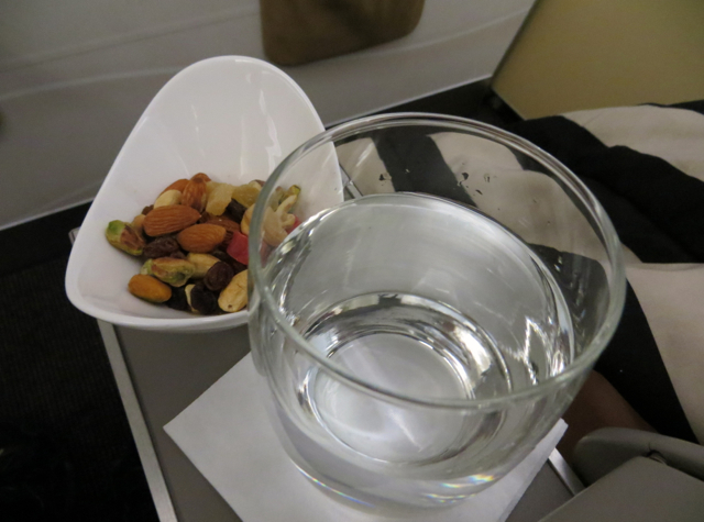 Etihad Business Class Review Male to Abu Dhabi - Nuts and Dried Fruit