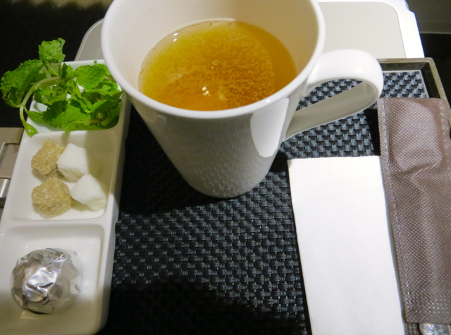 Etihad Business Class Review Male to Abu Dhabi - Moroccan Mint Tea