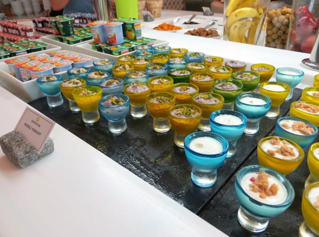 Yas Viceroy Abu Dhabi Hotel Review - Breakfast Buffet - Yogurt