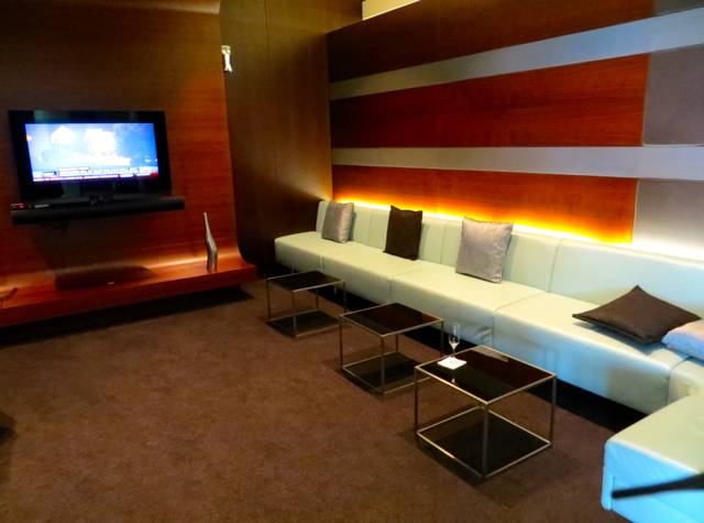 Etihad First Class Lounge Review Abu Dhabi - TV Lounge