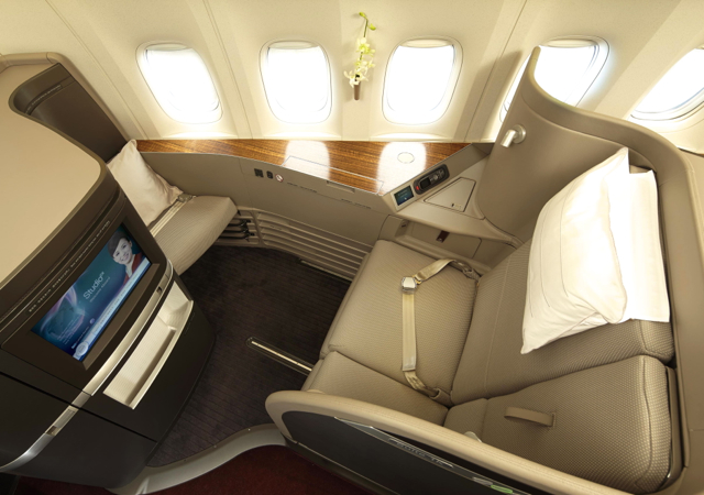 Cathay Pacific New First Class Seat