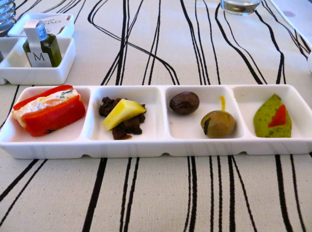 Etihad First Class Review - Appetizers