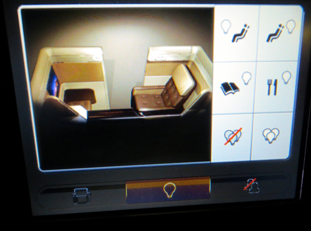 Etihad First Class Review - Lighting Controls