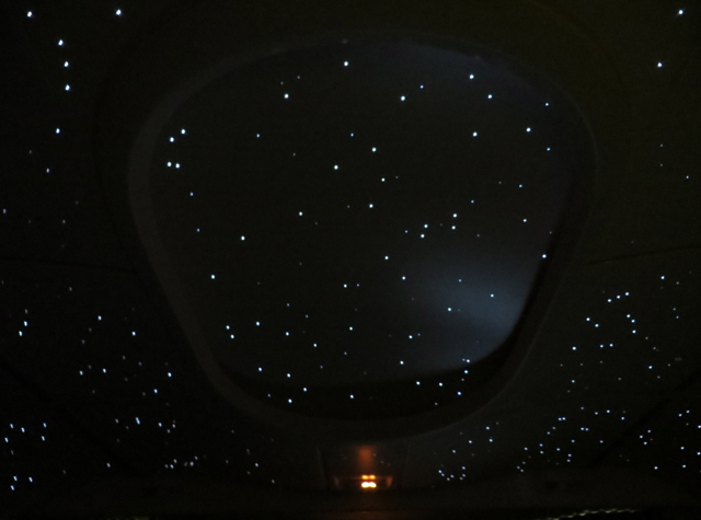 Etihad First Class - Starry Night Sky